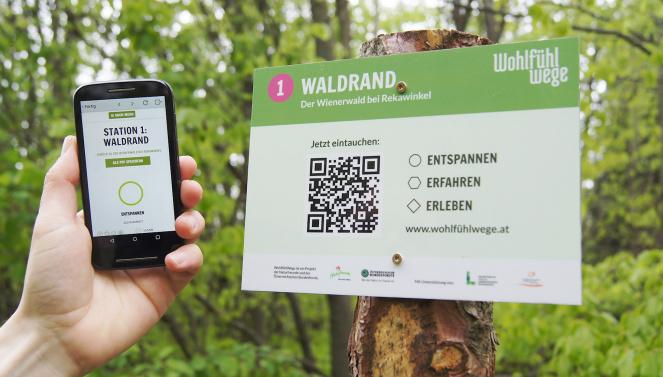 Wohlfühlwege Wandertafel QR Code Naturfreunde