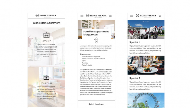 Responsive Webdesign Home Vienna