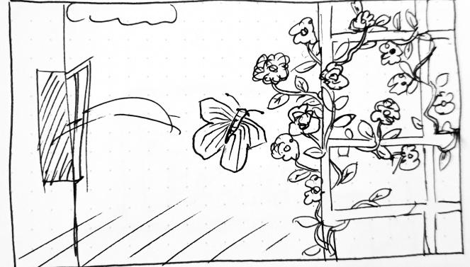 Storyboard Schmetterling