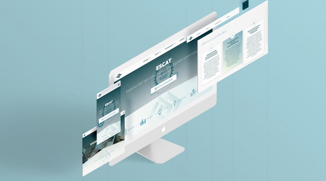 Escat Webdesign Mockup